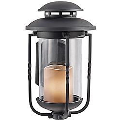 "Feiss Menlo Park 15"" High Black Outdoor Wall Lantern"