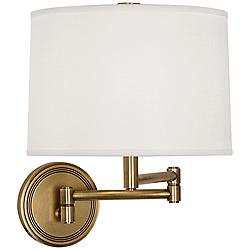 Robert Abbey Sofia Antique Brass Swing Arm Wall Lamp