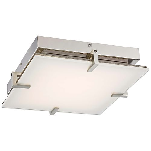 "George Kovacs Hooked 14"" Wide LED Glass Ceiling Light"