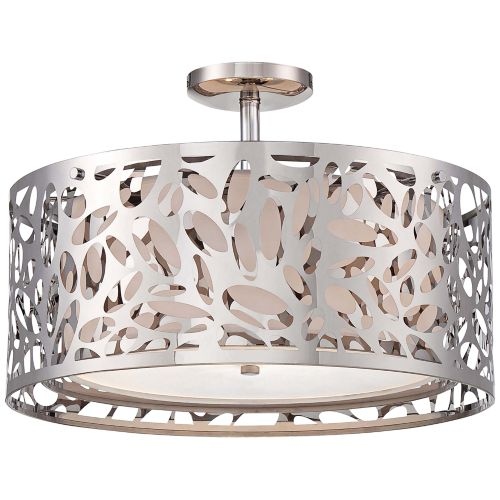 "George Kovacs Layover 18 1/4"" Wide Chrome Ceiling Light"