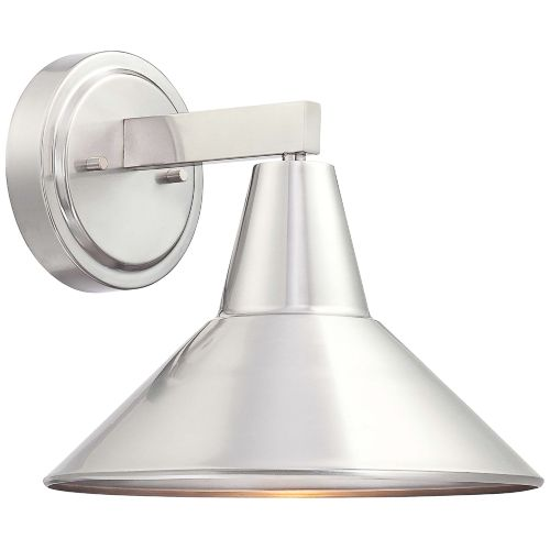 "Bay Crest 10 1/2"" High Brushed Aluminum Outdoor Wall Light"