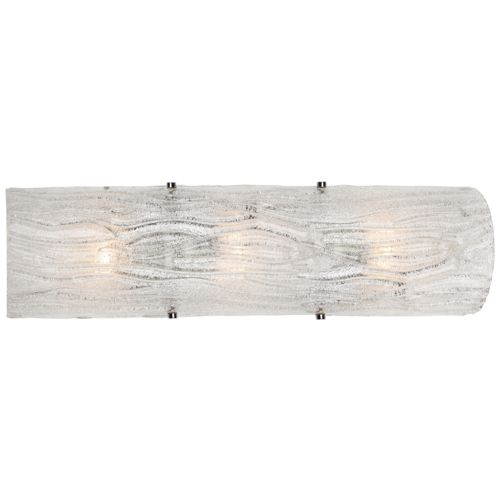 "Varaluz Brilliance 22"" Wide Chrome Bath Light"