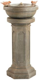 "Roman Column 25"" High Gray LED Indoor/Outdoor Fountain (32D54)"