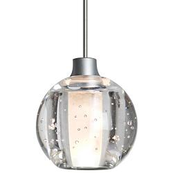 "Besa Boca 4 3/4"" Wide Satin Nickel Mini Pendant"