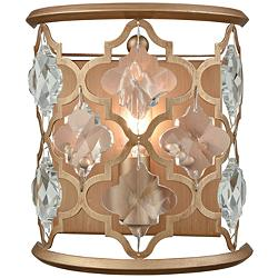 "Armand 9"" High Matte Gold Wall Sconce"