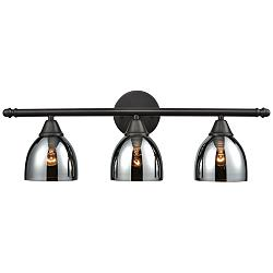 "Reflections 25"" Wide Oil-Rubbed Bronze 3-Light Bath Light"