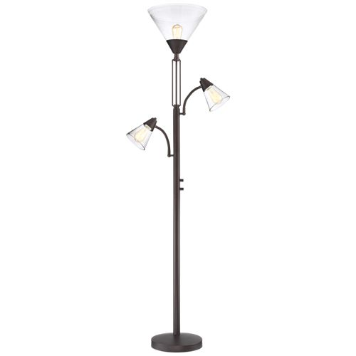 Warwick Tree Torchiere LED Floor Lamp with Edison Bulbs