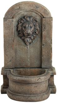 "Lion Head 25"" High Stone Indoor/Outdoor Fountain (33F06)"