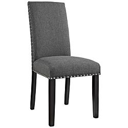 Parcel Gray Fabric Dining Side Chair