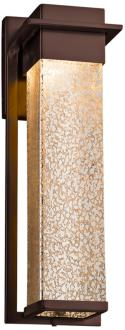 "Fusion Pacific 16 1/2"" High Glass Bronze LED Outdoor Wall Light (37F41) 37F41"