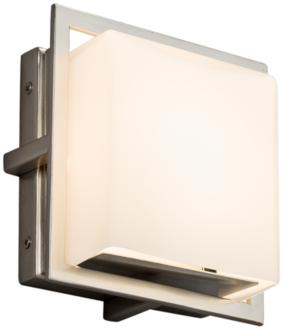 "Fusion Avalon 6 1/2"" High Brushed Nickel LED Outdoor Wall Light (37G10) 37G10"