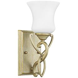 "Hinkley Brooke 11 3/4"" High Silver Leaf Wall Sconce"