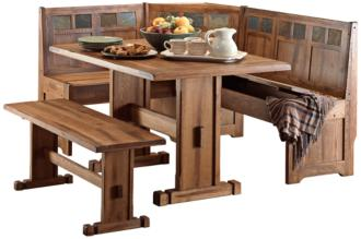 Sedona Rustic Oak 4-Piece Breakfast Nook Set (38M86)