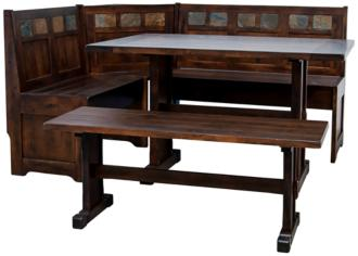 Santa Fe Dark Chocolate Wood 4-Piece Breakfast Nook Set (38M98)