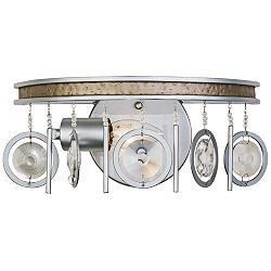"Varaluz Charmed 5 1/2"" High Silver Wall Sconce"