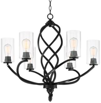 "Stribling 28"" Wide Bronze 6-Light Chandelier (39K38)"
