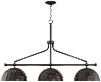 "Girard 45"" Wide Bronze and Warm Brass 3-Light Island Pendant (39K42)"
