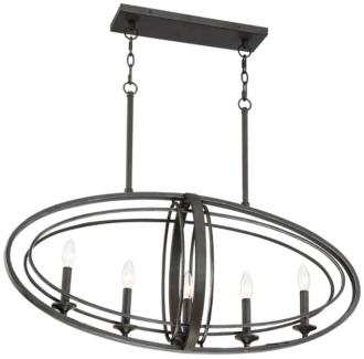 "Belmont 35 1/2"" Wide Bronze 5-Light Island Chandelier (39P15)"