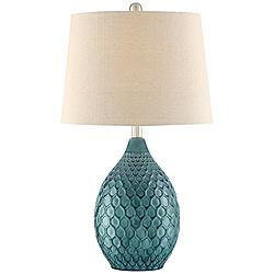 Kate Sea Foam Ceramic Table Lamp by 360 Lighting