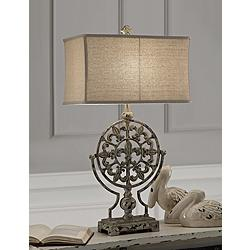 Crestview Collection Olives French Blue Table Lamp