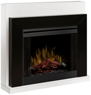 Ebony Black Mantel Electric Fireplace (3C829)