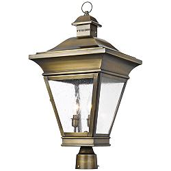"Reynolds Collection 26"" High Brass Outdoor Post Light"