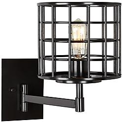 "Prelude 15"" High Industrial Bronze Swing Arm Wall Lamp"