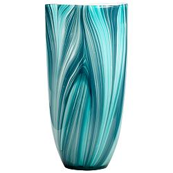 "Turin 12"" High Large Modern Glass Vase"