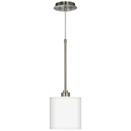 "Brushed Steel 7"" Wide Mini Pendant Light"