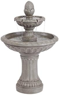 "Dela 35 1/2"" High Faux Stone Two-Tier Outdoor Floor Fountain (40T72)"