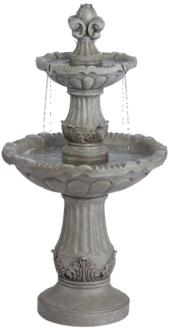 "Reneta 51"" High Faux Stone Three-Tier Outdoor Floor Fountain (40T73)"