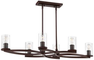 "Fairport 43""W Mediterranean Bronze 6-Light Island Chandelier (40W93)"