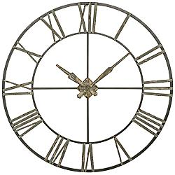 "Clare Distressed Gray 47 3/4"" Round Wall Clock"