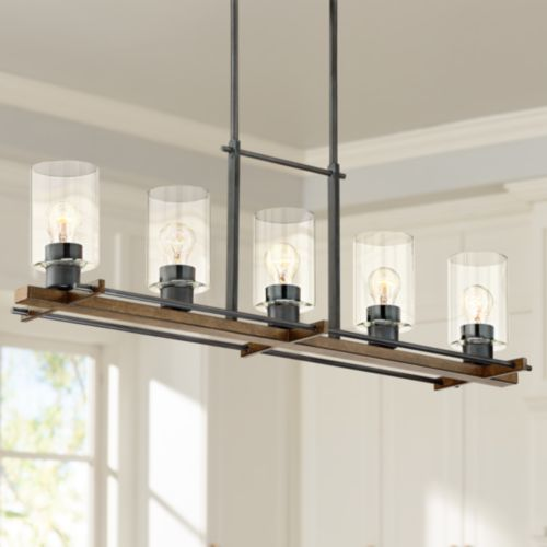 "Ranger 36 3/4"" Wide Rustic Farmhouse Linear Pendant"