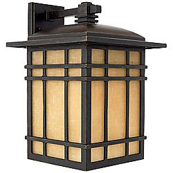"Quoizel Hillcrest 15 1/2"" High Bronze Outdoor Wall Light"