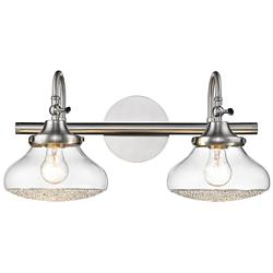 "Asha 10 1/4"" High Pewter 2-Light Wall Sconce"