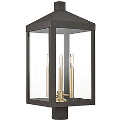 "Nyack 24"" High Bronze Outdoor Post Light"