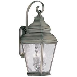 "Exeter 29"" High Vintage Pewter Outdoor Wall Light"