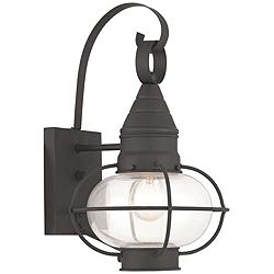"Newburyport 14 3/4"" High Black Outdoor Wall Light"