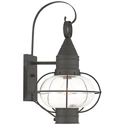 "Newburyport 20 3/4"" High Black Outdoor Wall Light"