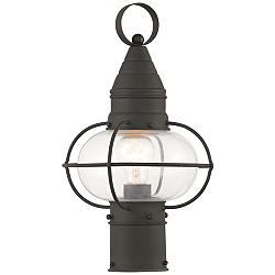 "Newburyport 15"" High Black Outdoor Post Light"