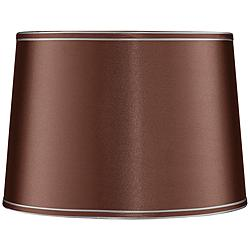 Soft Brown Drum Lamp Shade 14x16x11 (Spider)