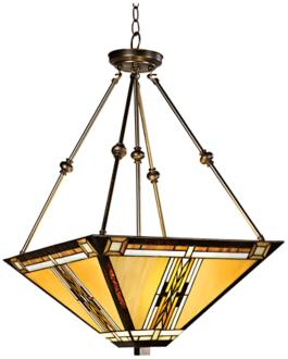 Walnut Mission Style Pendant Chandelier (43240)