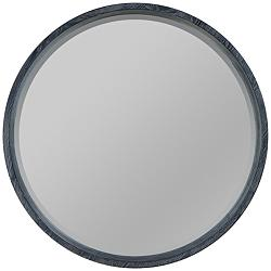 "Quoizel Shoreline Black w/ White Paint 26"" Round Wall Mirror"