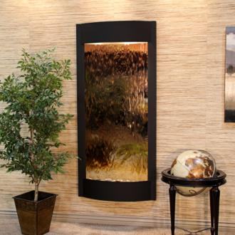 "Pacifica Waters 69""H Black and Bronze Mirror Wall Fountain (43E64)"