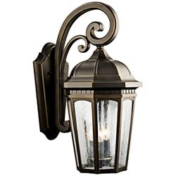 "Kichler Courtyard 22 1/4"" High Bronze Outdoor Wall Light"