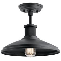 "Allenbury 12"" Wide Black Convertible Outdoor Hanging Light"