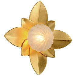 "Corbett Gigi 12"" High Gold Leaf LED Wall Sconce"