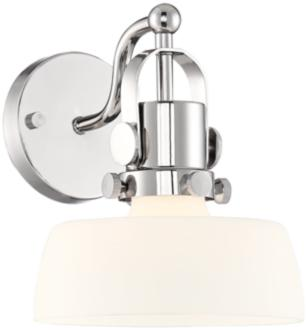 "Possini Euro Fella 9 1/2"" High Polished Nickel Wall Sconce (44X91) 44X91"