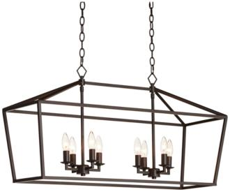 "Madison 36"" Wide Bronze 8-Light Island Pendant (45H44)"